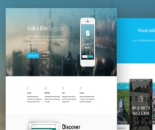 """Walk & RIDE"" one page website template"