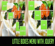 Little Boxes Menu with jQuery