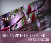PRETTY SIMPLE CONTENT SLIDER WITH JQUERY AND CSS3