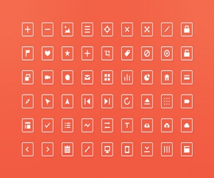 54 PSD squared icons