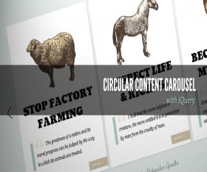 CIRCULAR CONTENT CAROUSEL WITH JQUERY