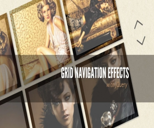 GRID NAVIGATION EFFECTS WITH JQUERY