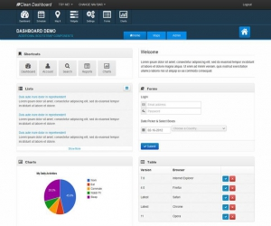 Clean Bootstrap Dashboard  Admin Theme
