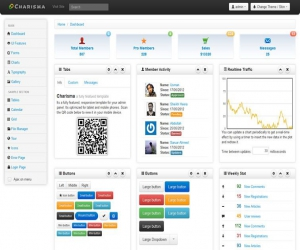 Charisma responsive, multiple skin admin template