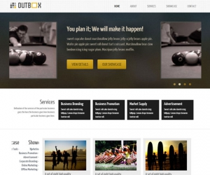 Outbox Socker Responsive template