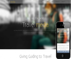 Travel Media – A Travel Guide Mobile Website Template