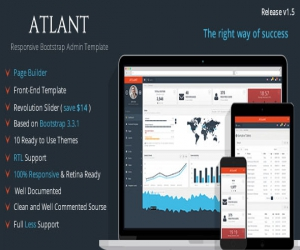 Atlant – Bootstrap Admin Template with Frontend