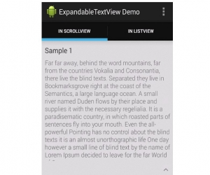 Android Expandable Text View