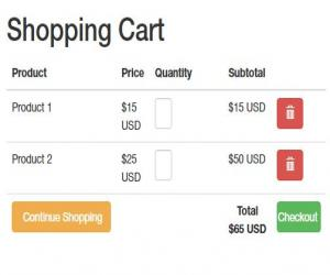 Shopping cart php Mysqli và boottrap