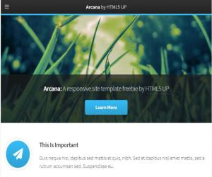 Template website doanh nghiệp Arcara