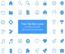 Free Tab Bar – 40 PSD icons