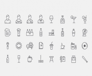 32 bar icons PSD