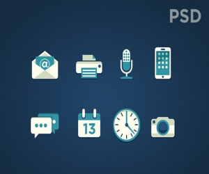 8 PSD bi-color icons