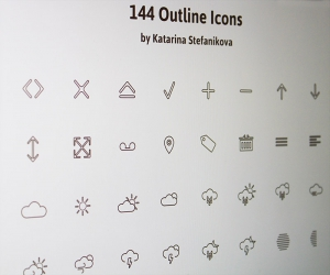 144 outline icons PSD(+AI)