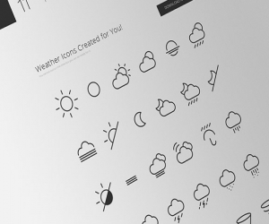 Weather Icons and Font Created for You!(bonus: AI-PSD)