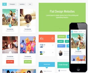 Color UI KIT Flat Responsive web mobile template