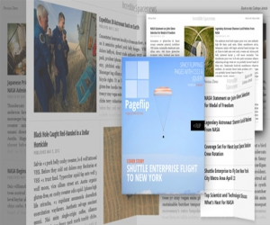 EXPERIMENTAL PAGE LAYOUT INSPIRED BY FLIPBOARD