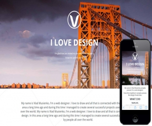 Visual Box a Onepage Portfolio