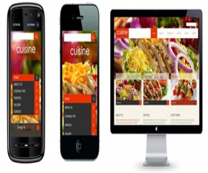 Cuisine a Hotel Mobile Website Template