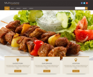 Multicuisine a Restaurant Mobile Website Template