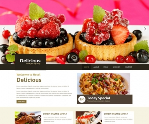 Delicious a Restaurant Mobile Website Template
