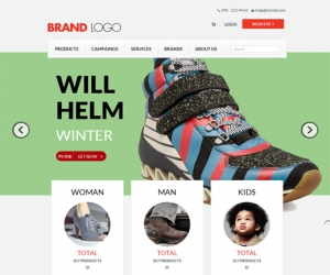 Brand Logo a Flat ECommerce Responsive Web Template