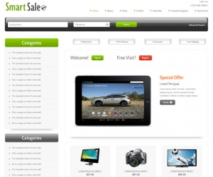 Smart Sale Online Shopping Cart Mobile website Template