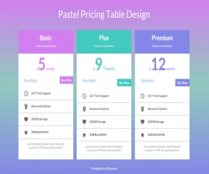 Pricing Table Design Widget Template