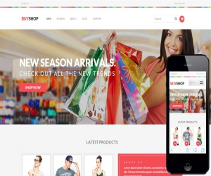 Buy Shop a Flat eCommerce Responsive Web Template