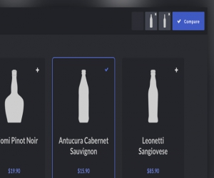 Product Comparison Layout and Effect